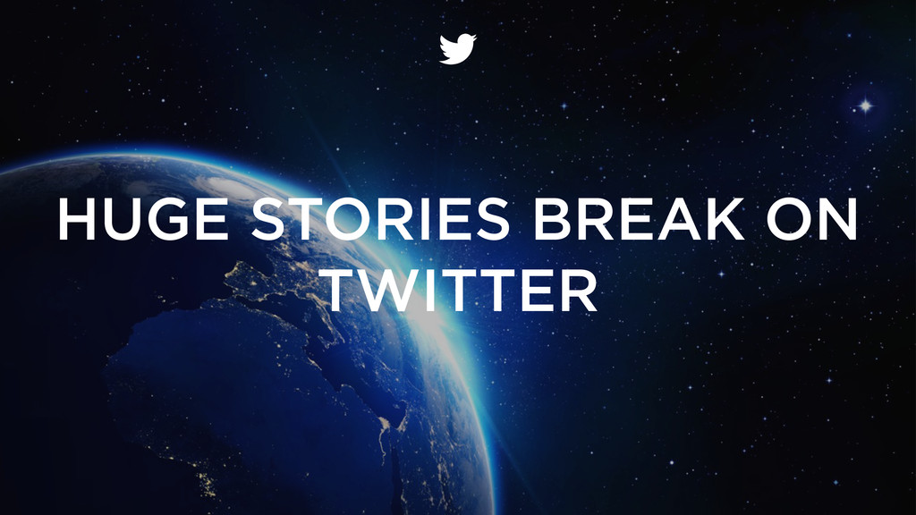 HUGE STORIES BREAK ON TWITTER