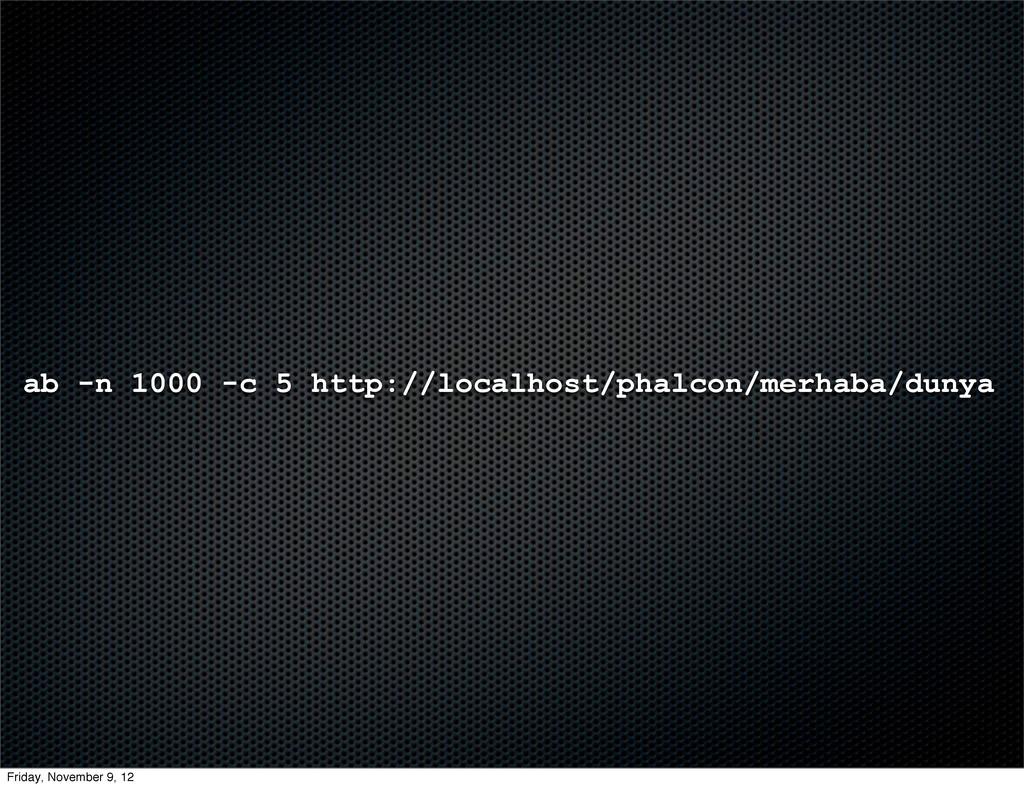 ab -n 1000 -c 5 http://localhost/phalcon/merhab...