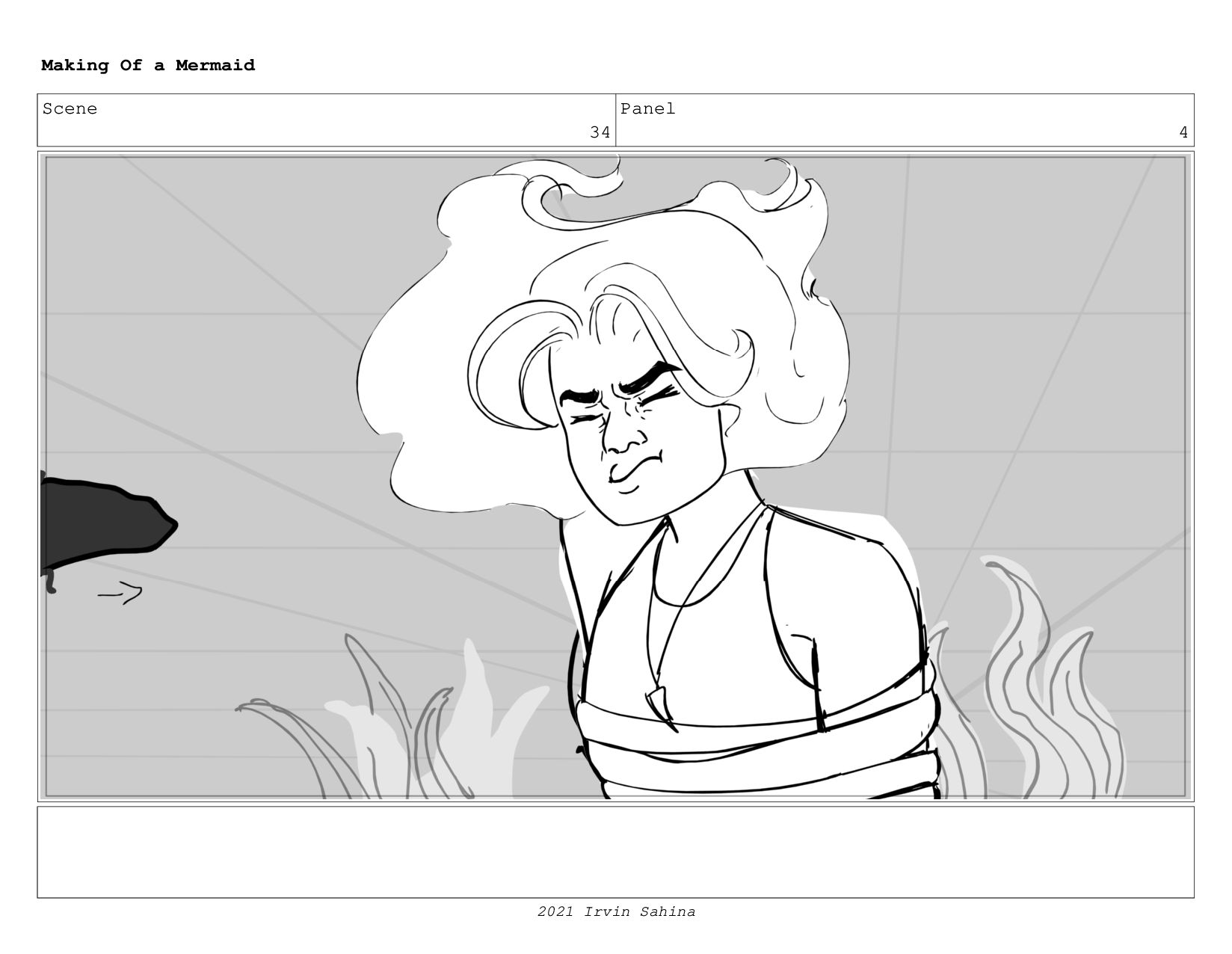 Scene 48 Panel 3 Making Of a Mermaid Updated 08...