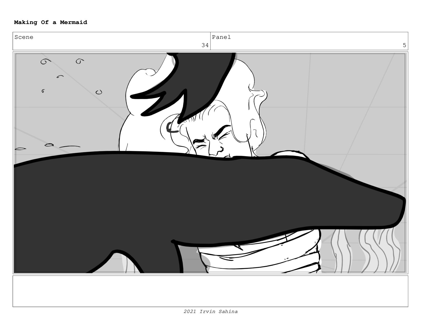 Scene 49 Panel 1 Making Of a Mermaid Updated 08...