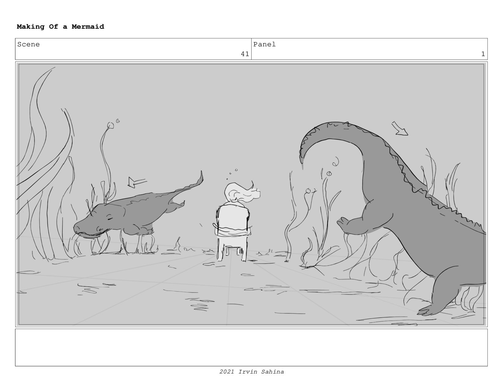 Scene 56 Panel 1 Making Of a Mermaid Updated 08...
