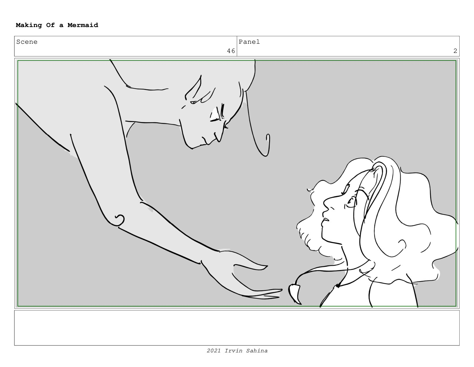 Scene 59 Panel 1 Making Of a Mermaid Updated 08...