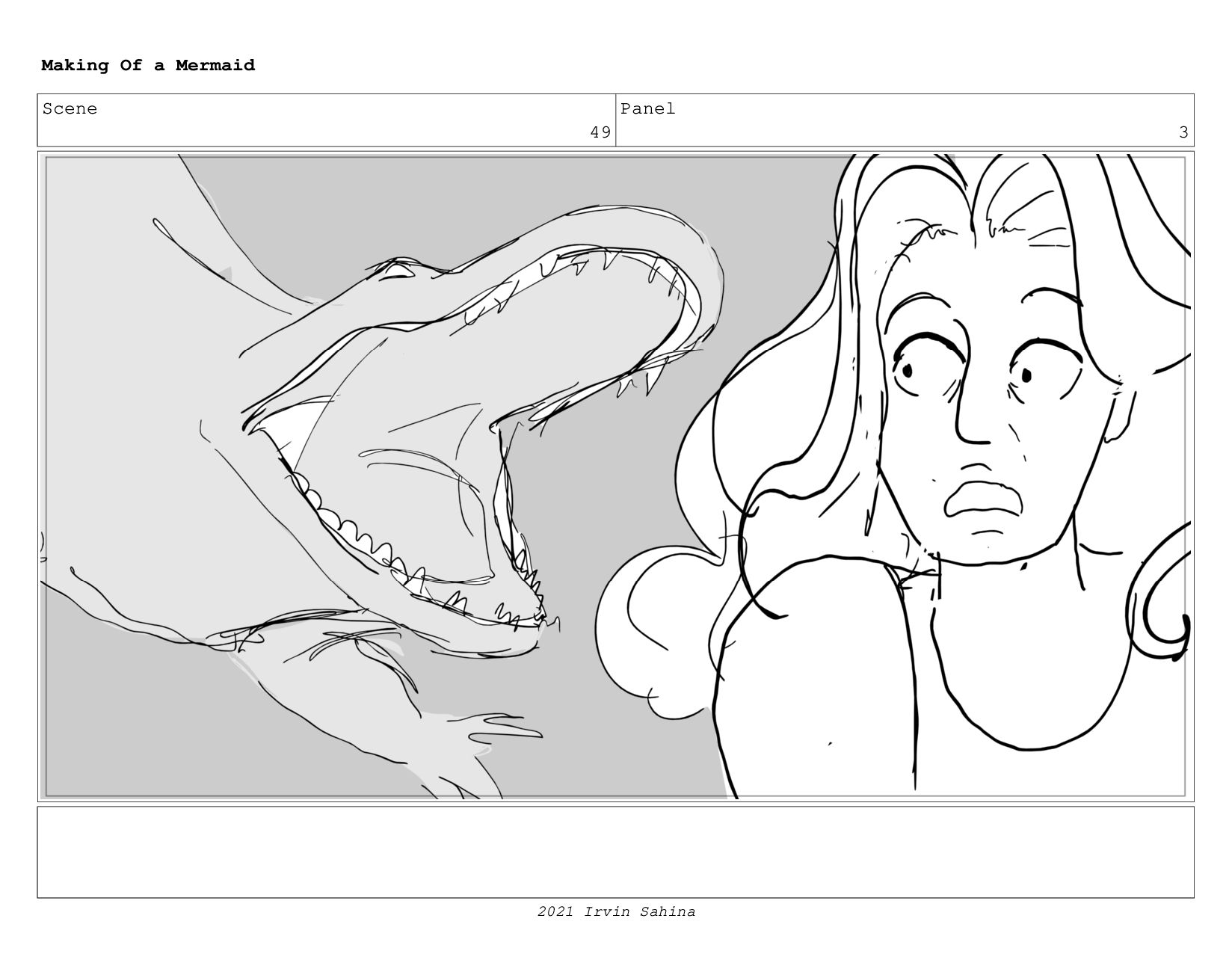 Scene 62 Panel 6 Making Of a Mermaid Updated 08...