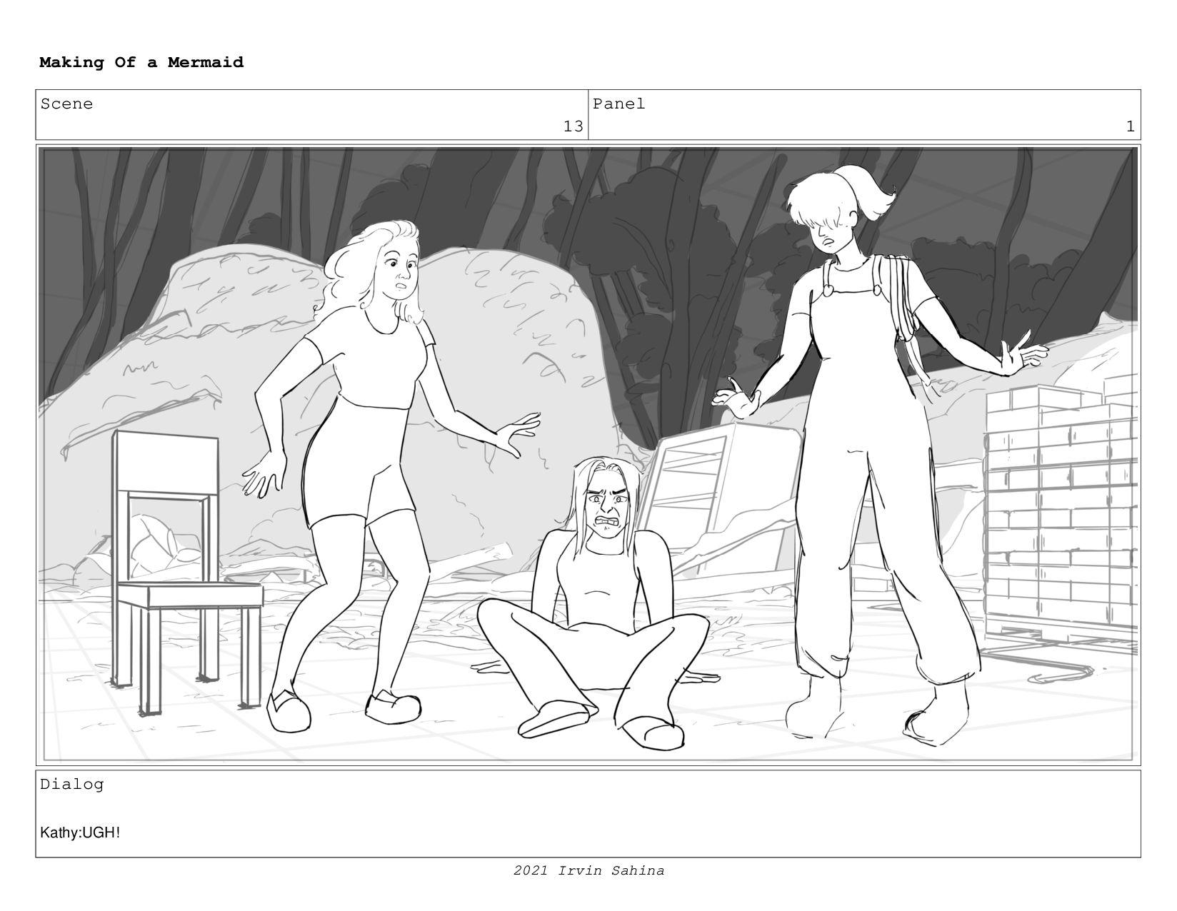 Scene 16 Panel 4 Making Of a Mermaid Updated 08...