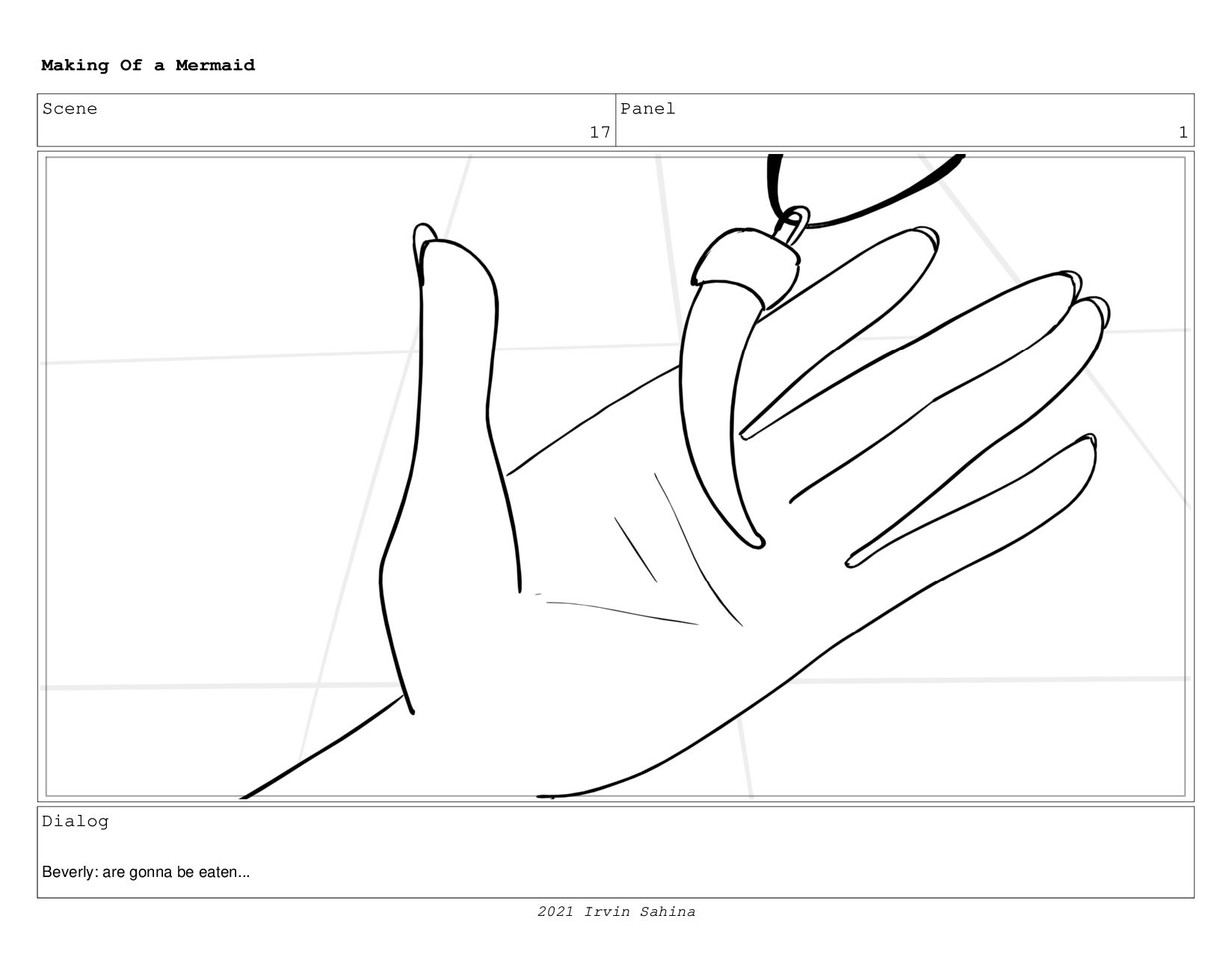 Scene 26 Panel 1 Making Of a Mermaid Updated 08...