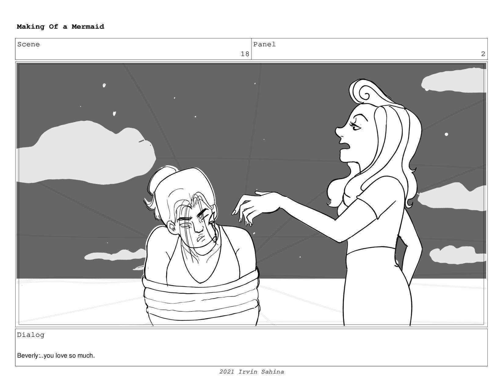 Scene 27 Panel 2 Making Of a Mermaid Updated 08...
