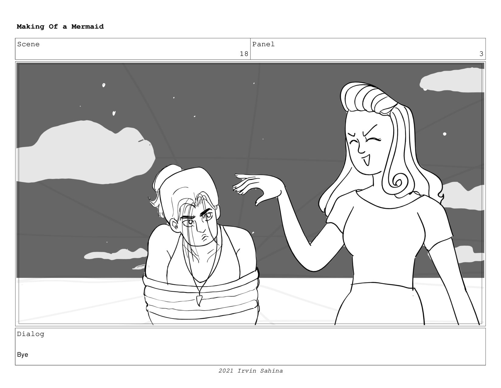 Scene 27 Panel 3 Making Of a Mermaid Updated 08...