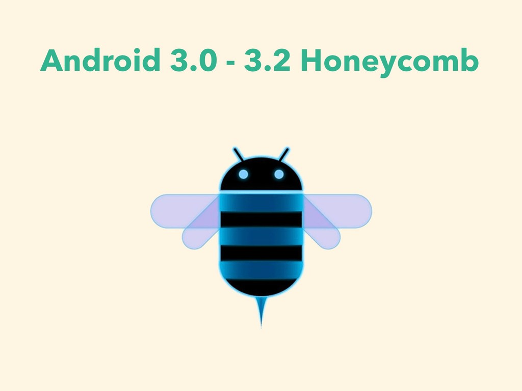 Android 3.0 - 3.2 Honeycomb