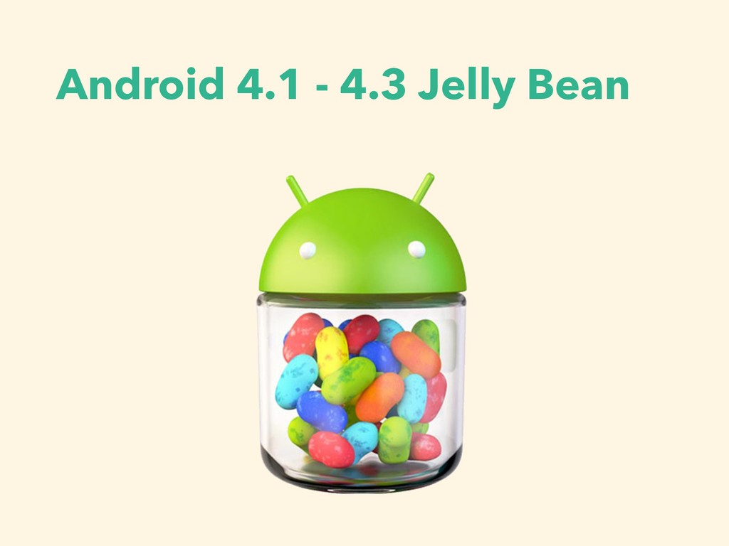 Android 4.1 - 4.3 Jelly Bean