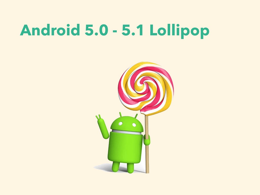 Android 5.0 - 5.1 Lollipop