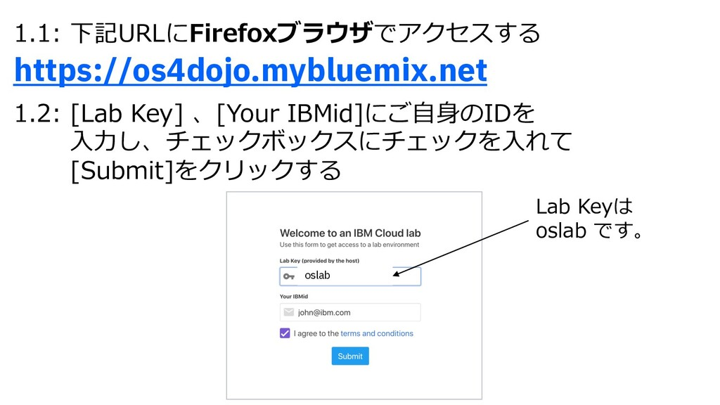 1.1: 下記URLにFirefoxブラウザでアクセスする https://os4dojo.m...