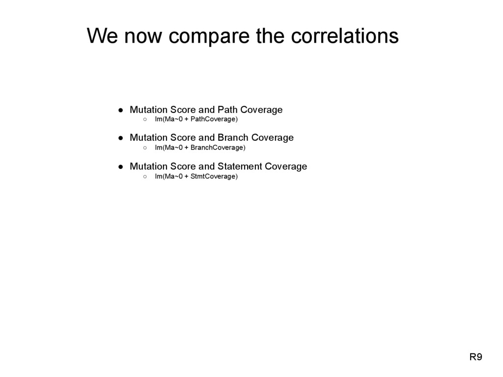 We now compare the correlations ●  Mutation Sco...