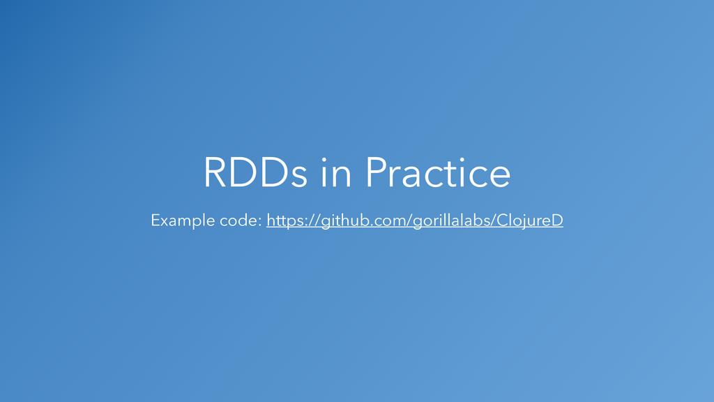 RDDs in Practice Example code: https://github.c...