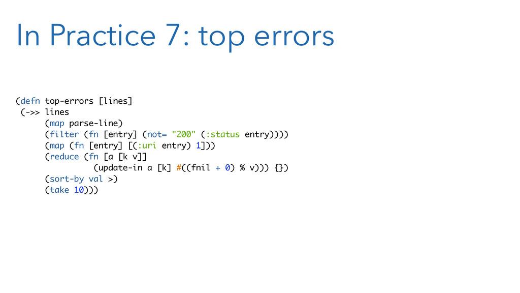 In Practice 7: top errors (defn top-errors [lin...