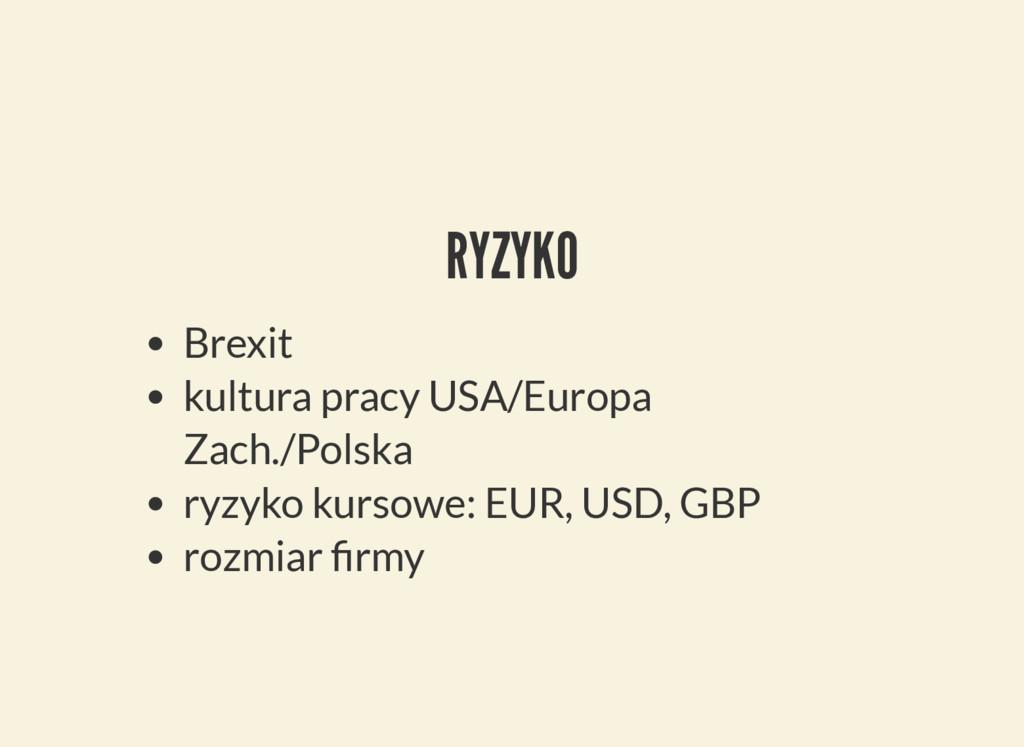 RYZYKO Brexit kultura pracy USA/Europa Zach./Po...