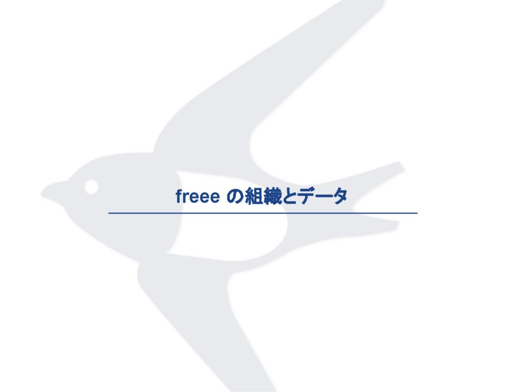 freee の組織とデータ