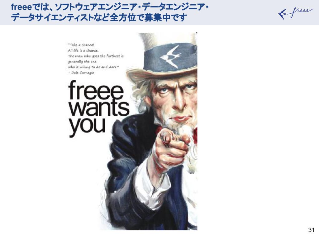 freeeでは、ソフトウェアエンジニア・データエンジニア・ データサイエンティストなど全方位で...