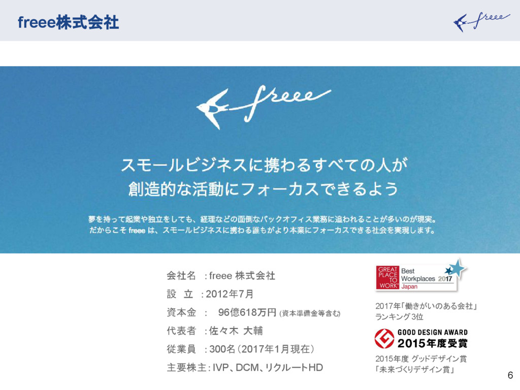 freee株式会社 6 2017年「働きがいのある会社」 ランキング3位 2015年度 グッド...