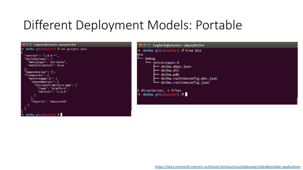 Different Deployment Models: Portable https://d...