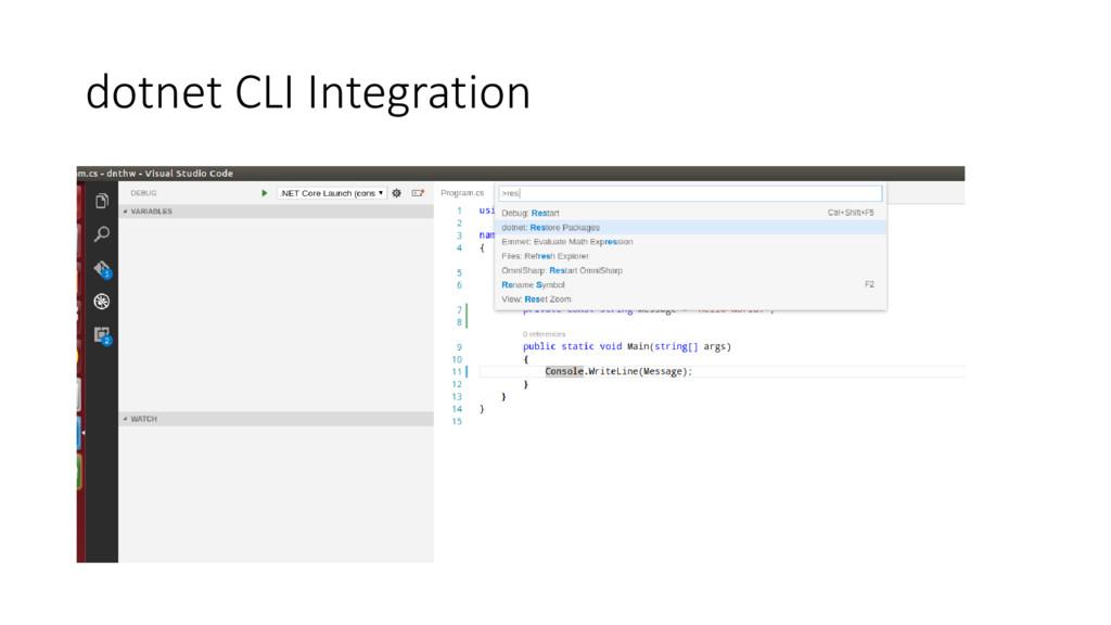dotnet CLI Integration