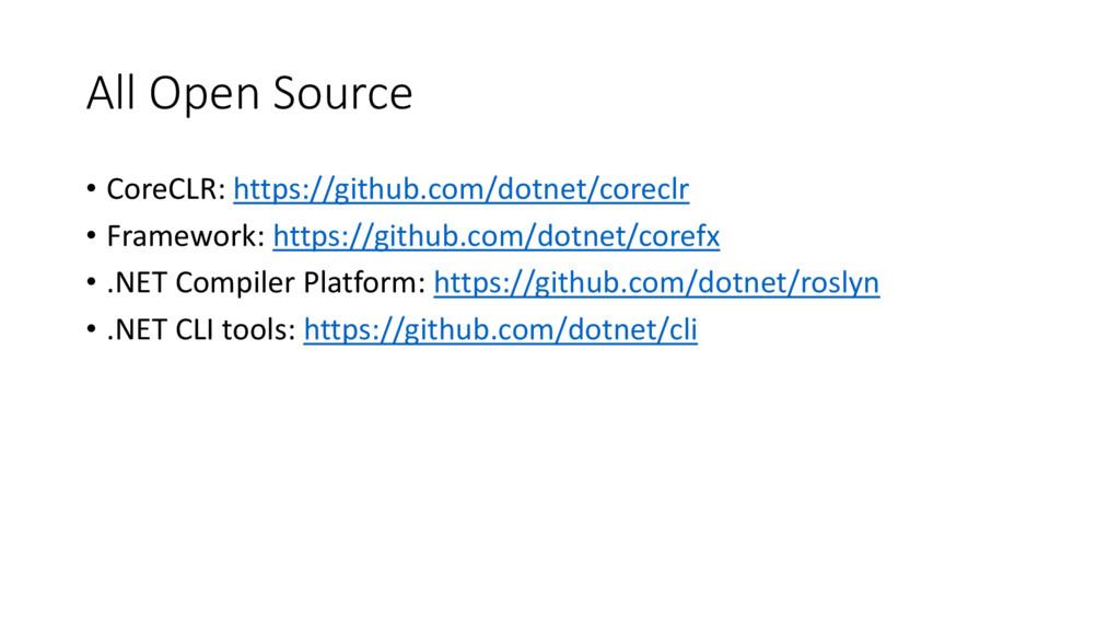 All Open Source • CoreCLR: https://github.com/d...