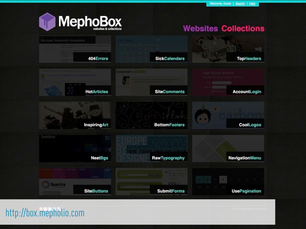 http://box.mepholio.com