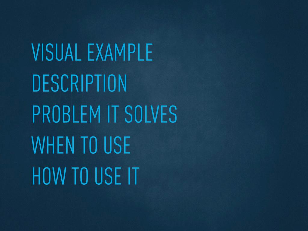 VISUAL EXAMPLE DESCRIPTION PROBLEM IT SOLVES WH...