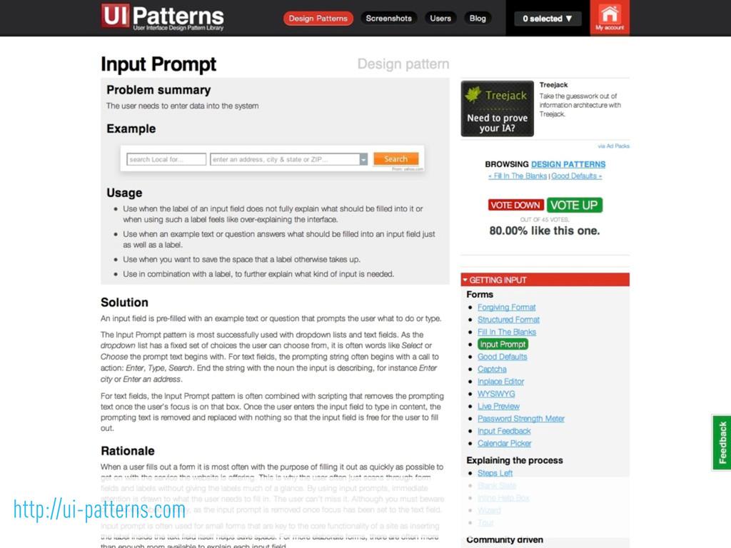 http://ui-patterns.com