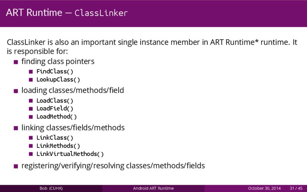 ART Run me — ClassLinker ClassLinker is also an...