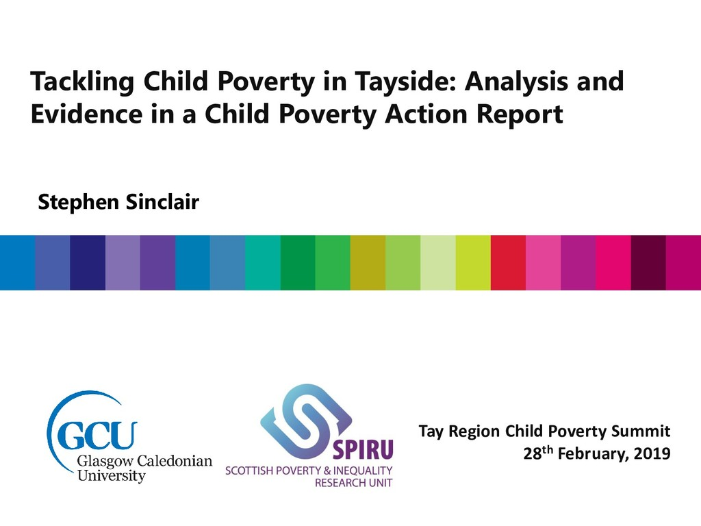 Stephen Sinclair Tackling Child Poverty in Tays...
