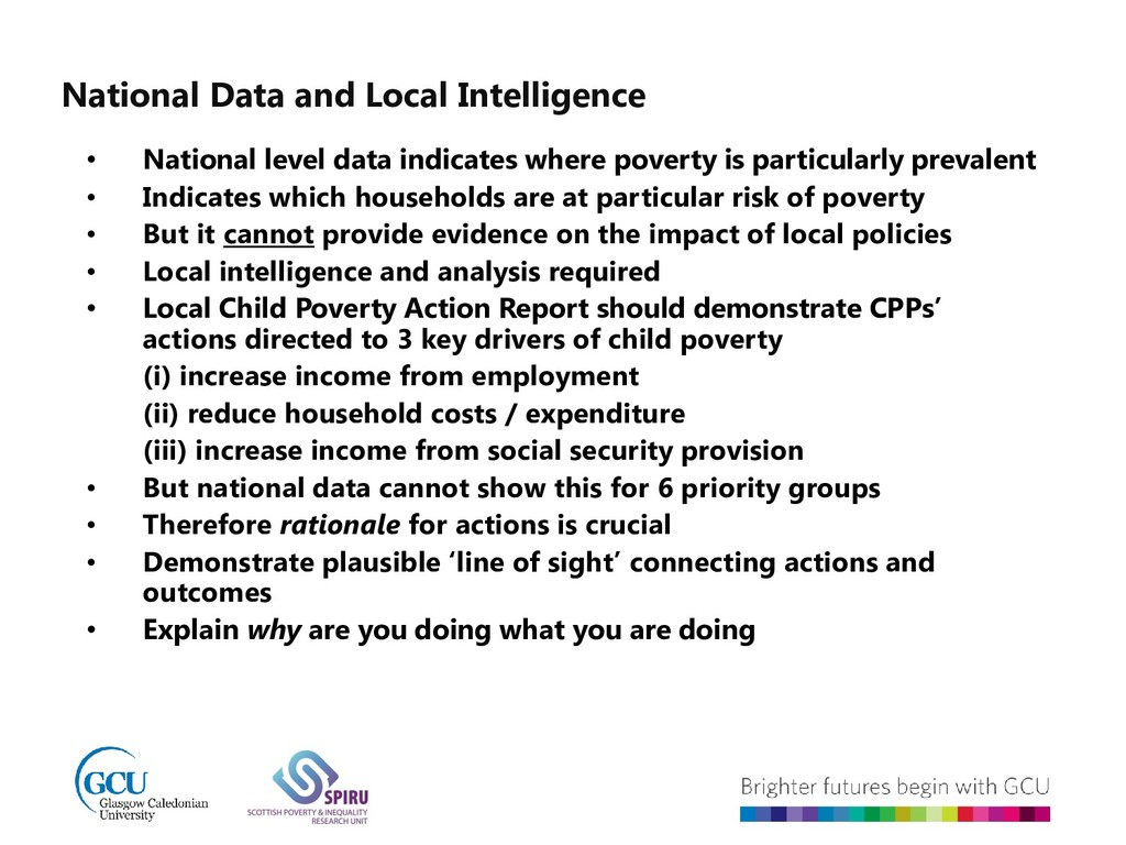 National Data and Local Intelligence • National...