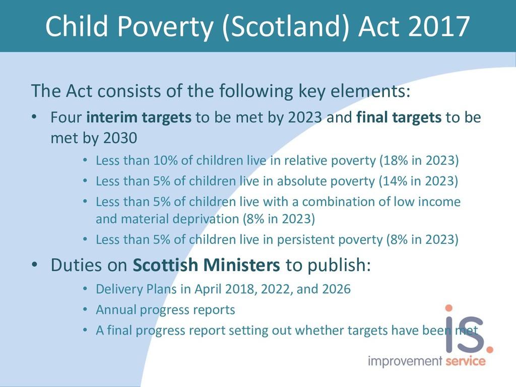 Child Poverty (Scotland) Act 2017 The Act consi...