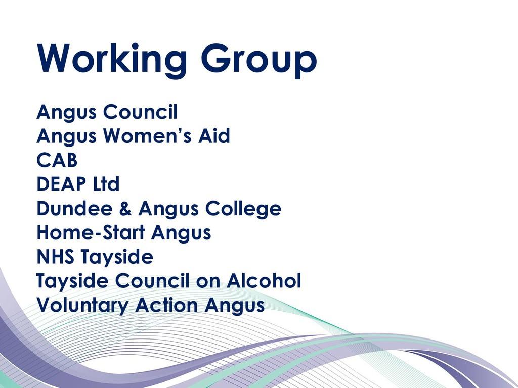Angus Council Angus Women's Aid CAB DEAP Ltd Du...
