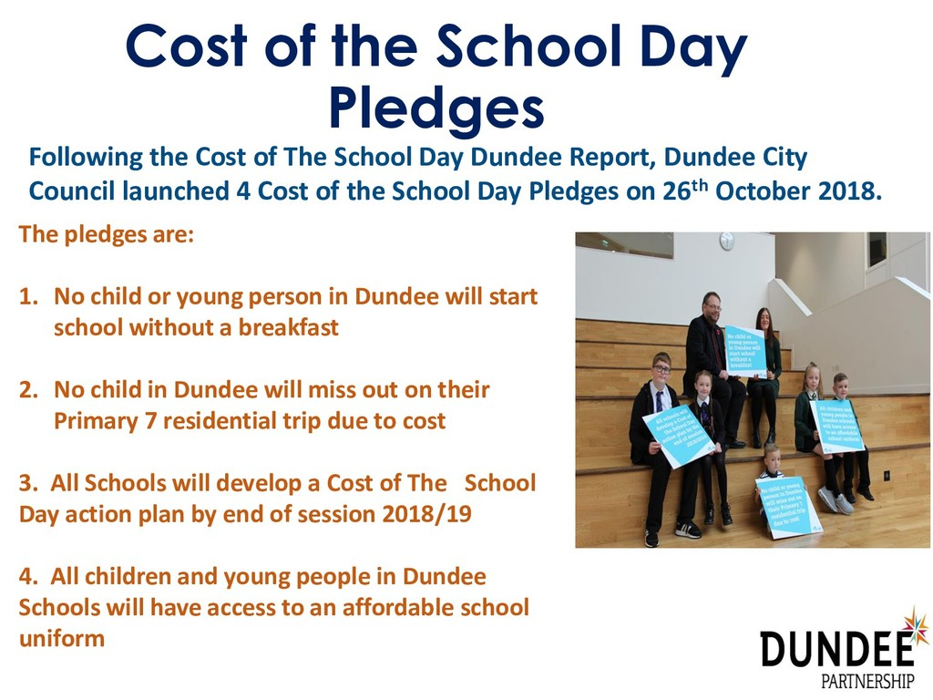 Cost of the School Day Pledges Following the Co...
