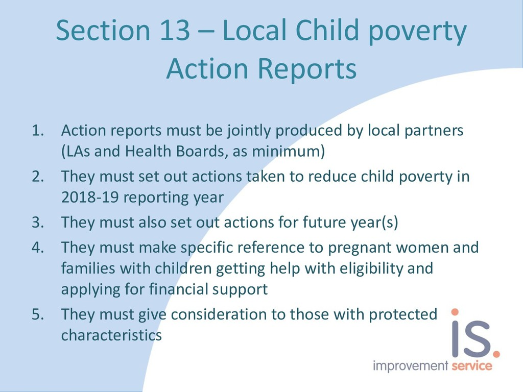 Section 13 – Local Child poverty Action Reports...