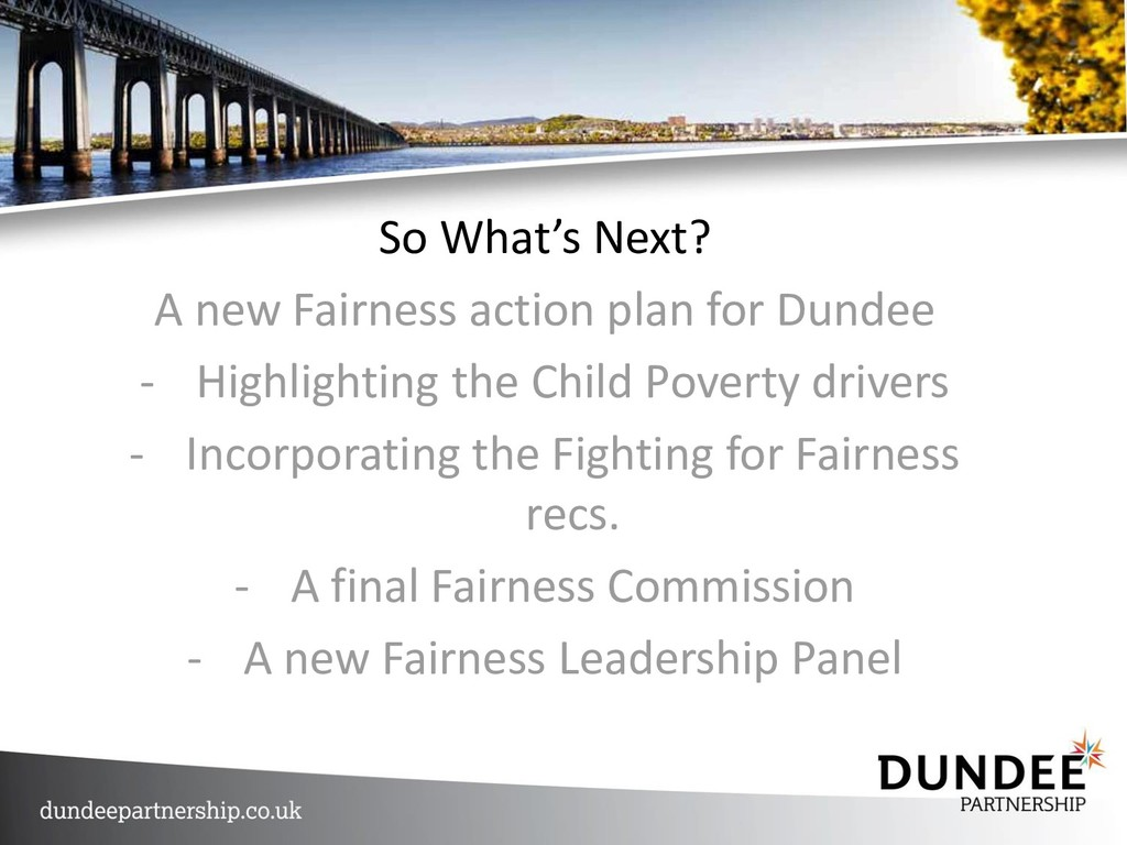 So What's Next? A new Fairness action plan for ...