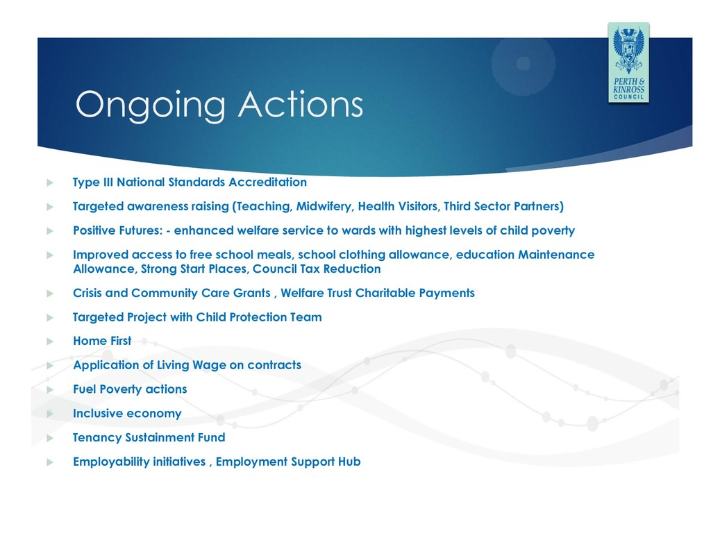Ongoing Actions  Type III National Standards A...