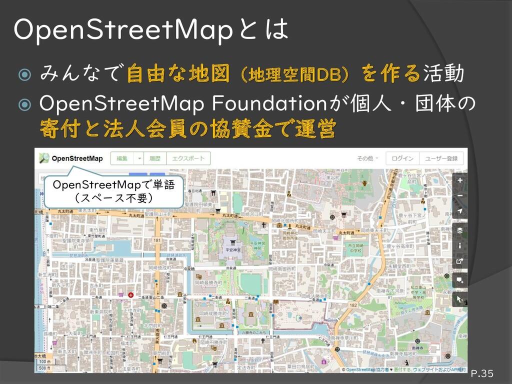  みんなで自由な地図(地理空間DB)を作る活動  OpenStreetMap Founda...