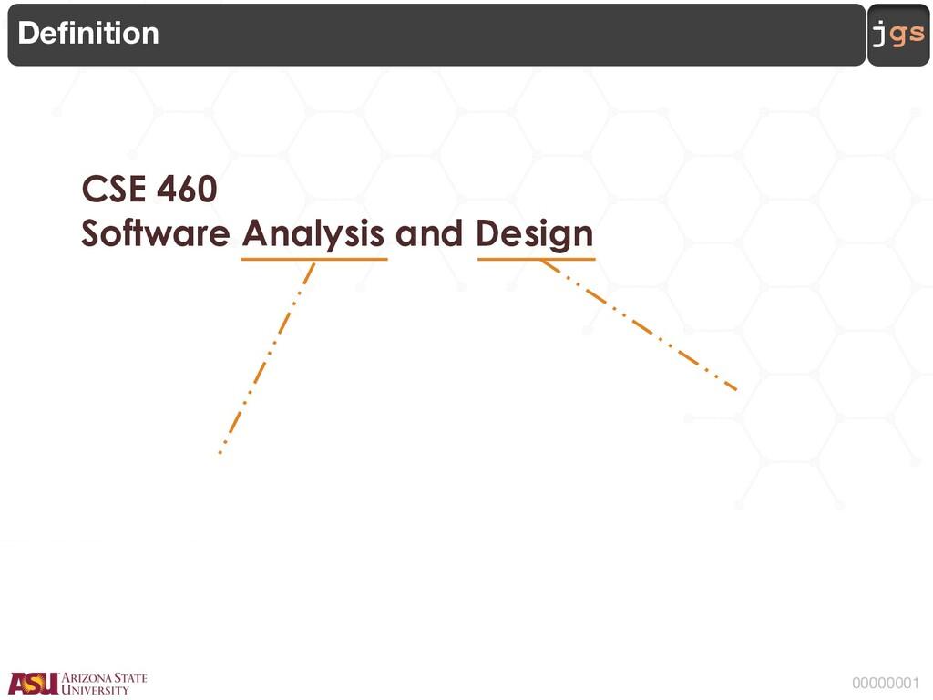 jgs 00000001 CSE 460 Software Analysis and Desi...