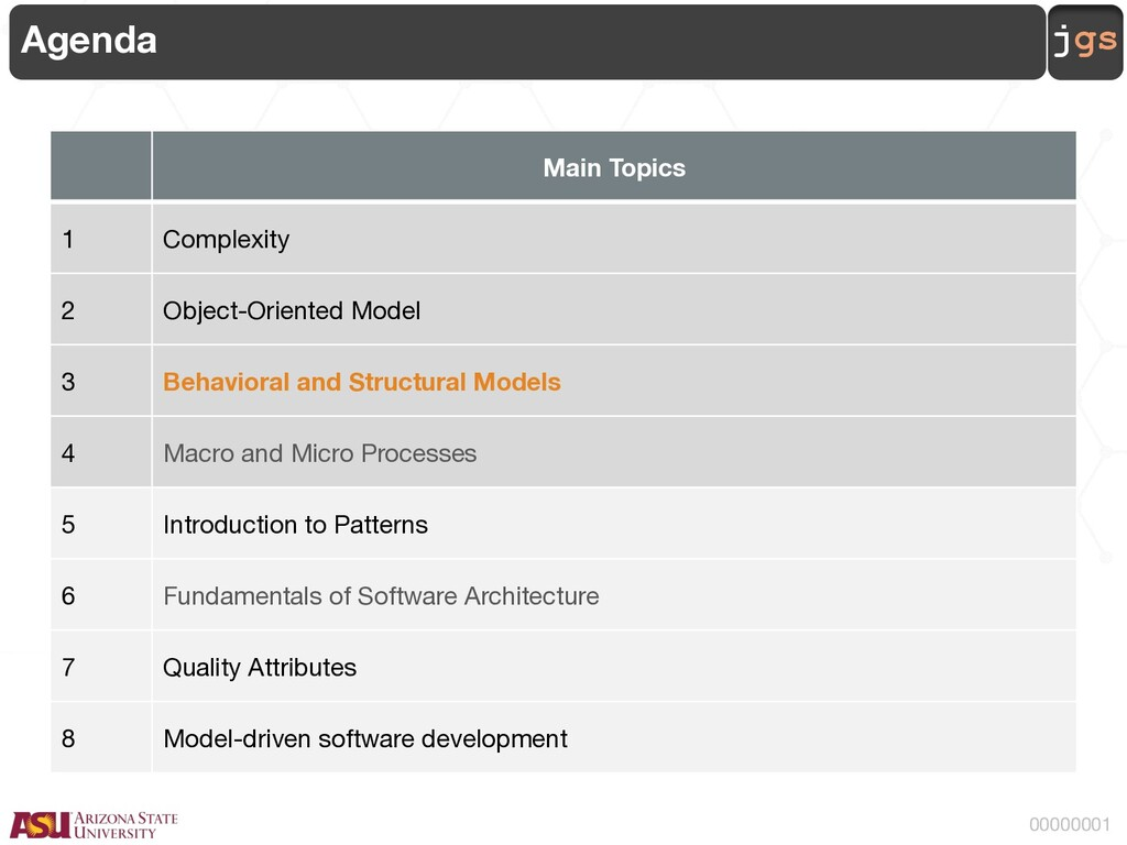 jgs 00000001 Agenda Main Topics 1 Complexity 2 ...