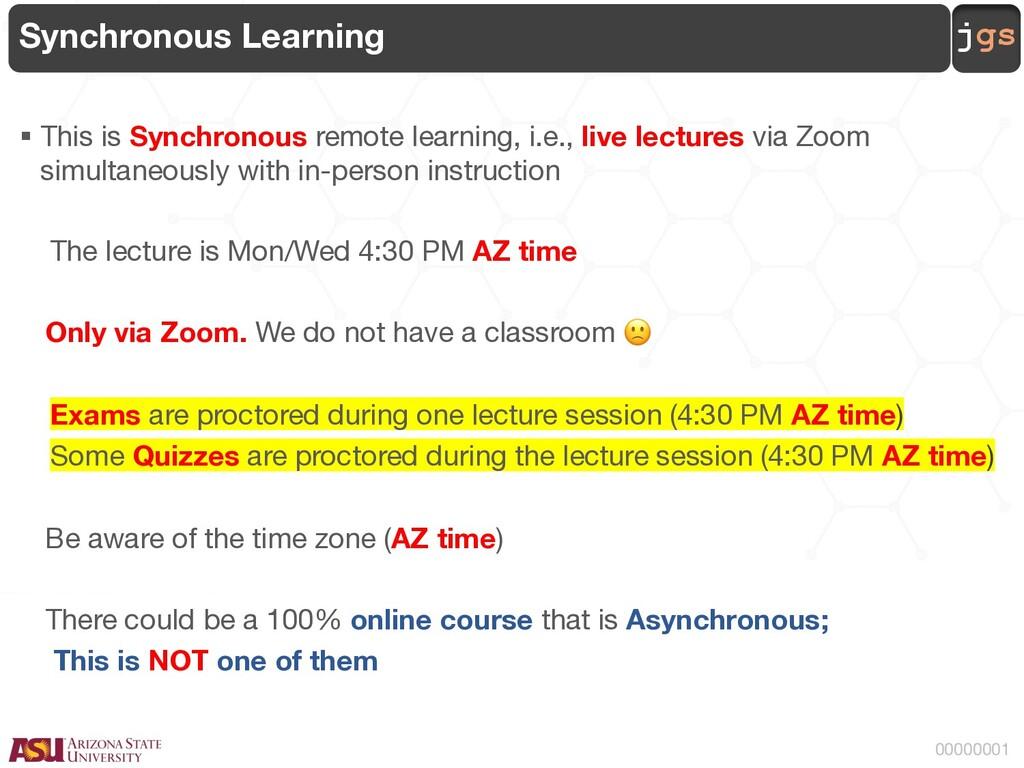 jgs 00000001 Synchronous Learning § This is Syn...