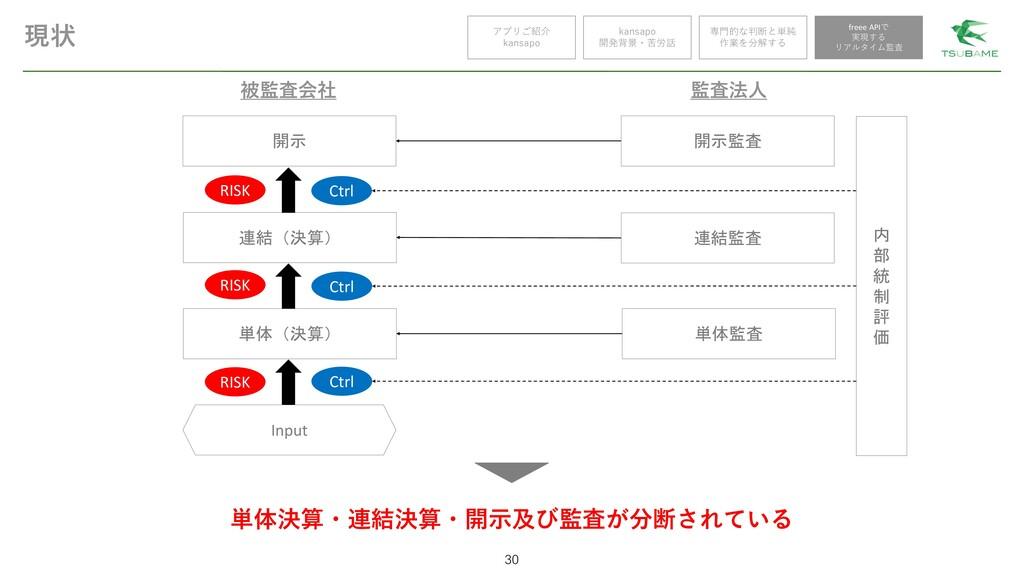 現状 30 アプリご紹介 kansapo kansapo 開発背景・苦労話 被監査会社 開示 ...