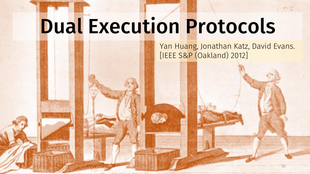 Dual Execution Protocols Yan Huang, Jonathan Ka...