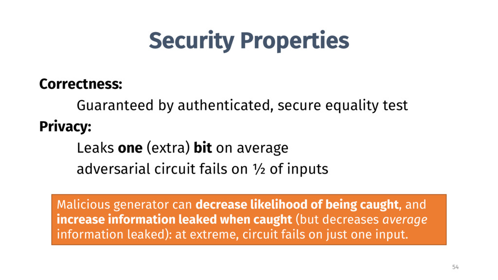 Security Properties Correctness: Guaranteed by ...