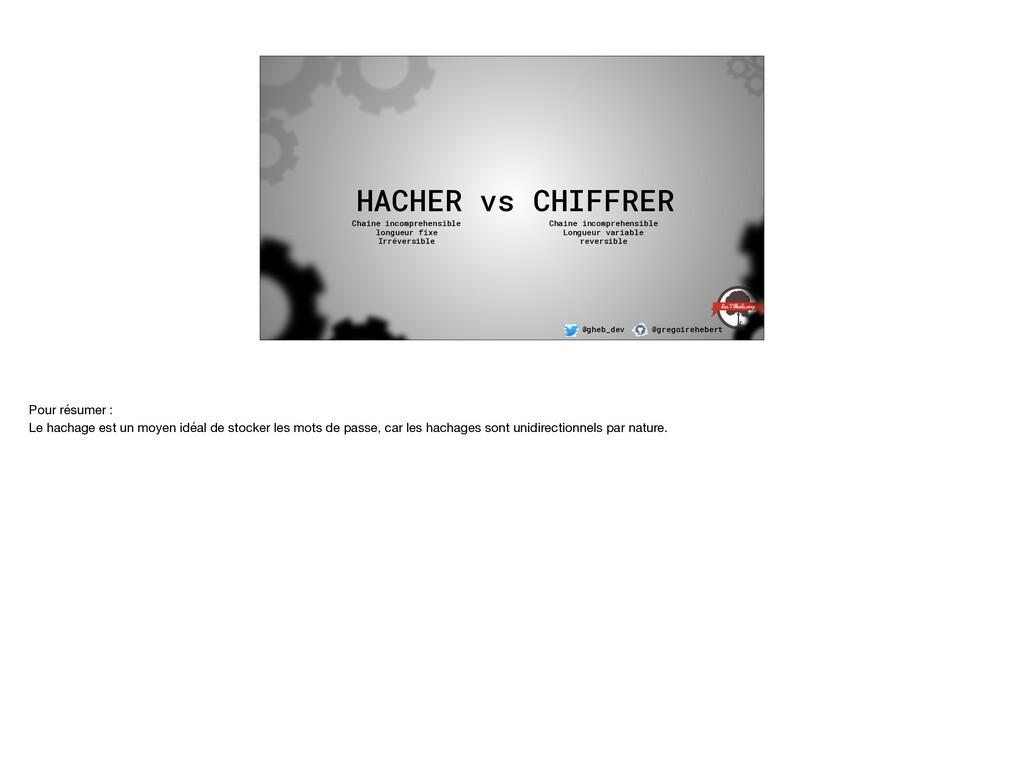 @gheb_dev @gregoirehebert HACHER vs CHIFFRER Ch...