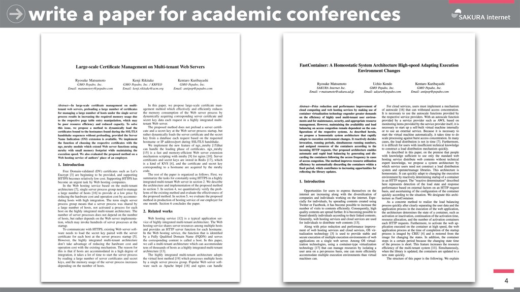 4 write a paper for academic conferences