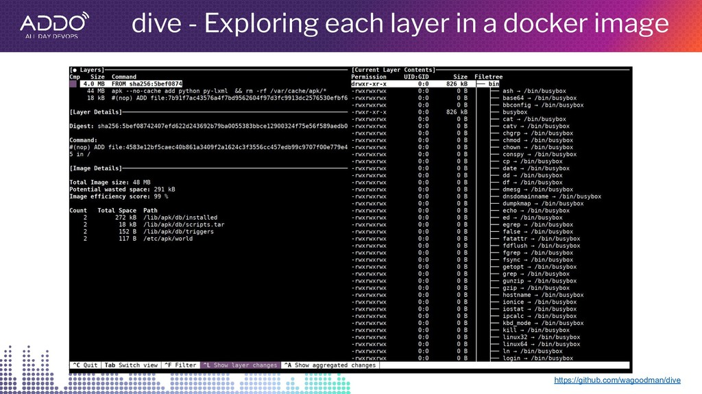 dive - Exploring each layer in a docker image h...