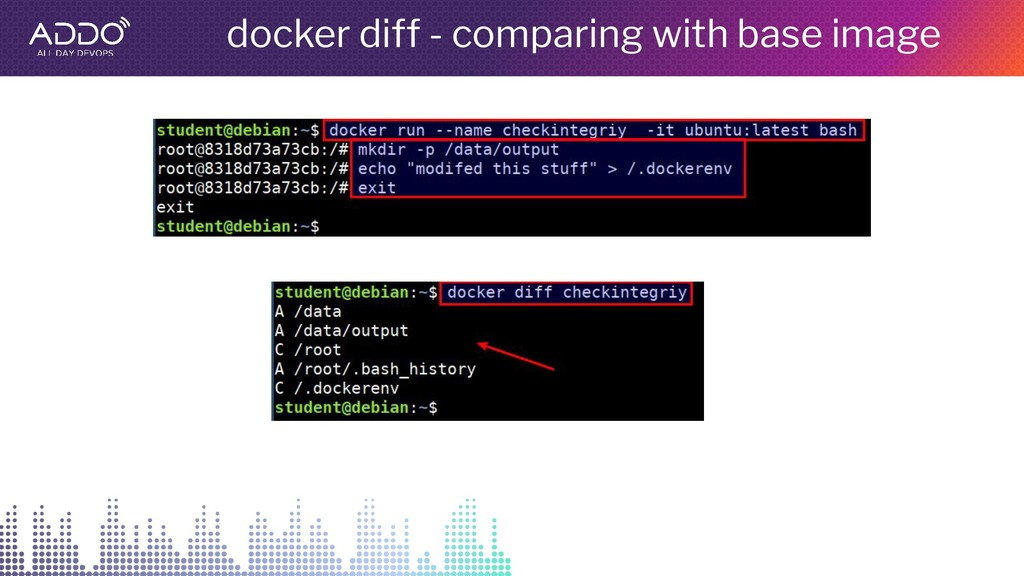 docker diff - comparing with base image