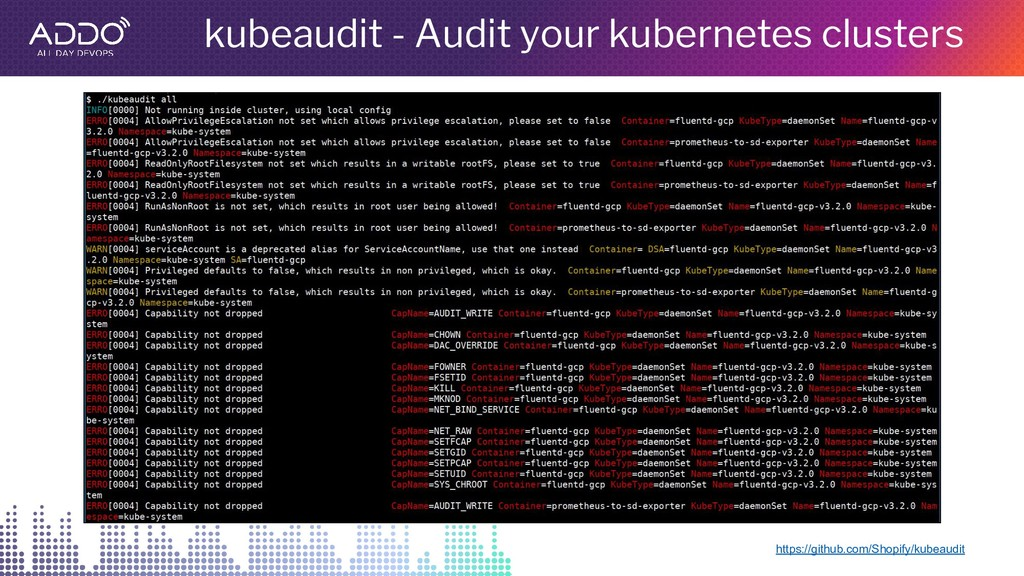 kubeaudit - Audit your kubernetes clusters http...